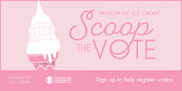 Museum of Ice Cream San Francisco's 'Scoop The Vote'